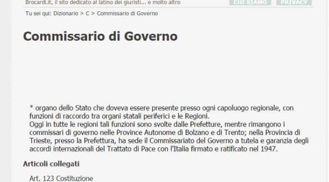 Prompte strafrechtliche Anzeige von Trieste Libera gegen die Regierungskommissarin