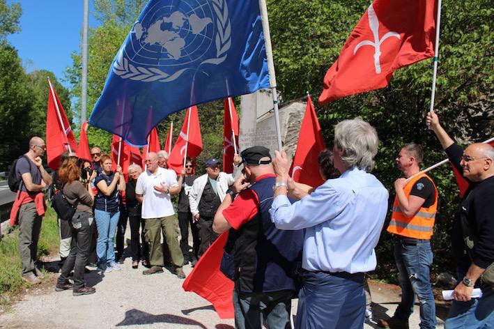 Trieste Libera Demonstration an Staatsgrenze