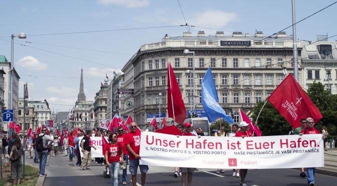 Freistaat und Freihafen TRIEST, Österreich und Internationale Gemeinschaft: UNSER HAFEN IST EUER HAFEN!