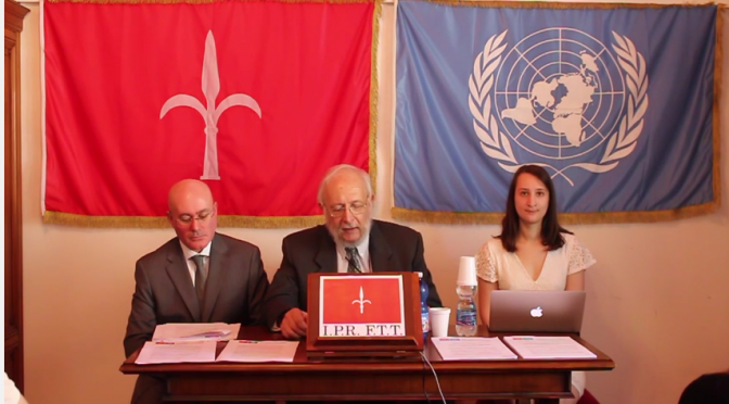 PRESS CONFERERENCE HELD ON JUNE 8th IN TRIESTE Statement about the legal action of the I.P.R. F.T.T. against illegal taxation imposed by the administering Italian Government and its Fiscal Agencies