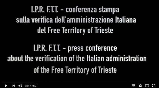 Der neueste Erlass der italienischen Regierung bestätigt die Zivilverwaltung des Freien Territoriums Triest: keine Souveränität